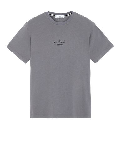 STONE ISLAND 2NS92 STONE ISLAND ARCHIVIO PROJECT_LINO WATRO CAMOUFLAGE T-shirt manches courtes Homme Bleu gris EUR 150