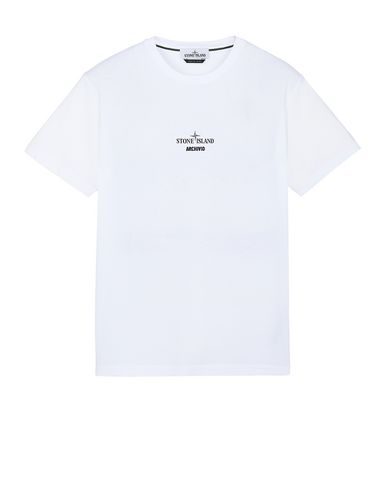 STONE ISLAND 2NS92 STONE ISLAND ARCHIVIO PROJECT_LINO WATRO CAMOUFLAGE Short sleeve t-shirt Man White USD 136