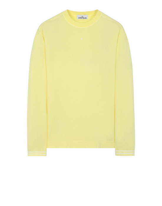 STONE ISLAND 21458 Long sleeve t-shirt Man Lemon