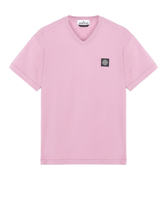 STONE ISLAND 23213 Short sleeve t-shirt Man Pink Quartz