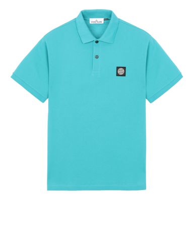 STONE ISLAND 22R39 Polo shirt Man Turquoise USD 168
