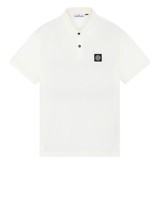 STONE ISLAND 22R39 Polo shirt Man Ivory