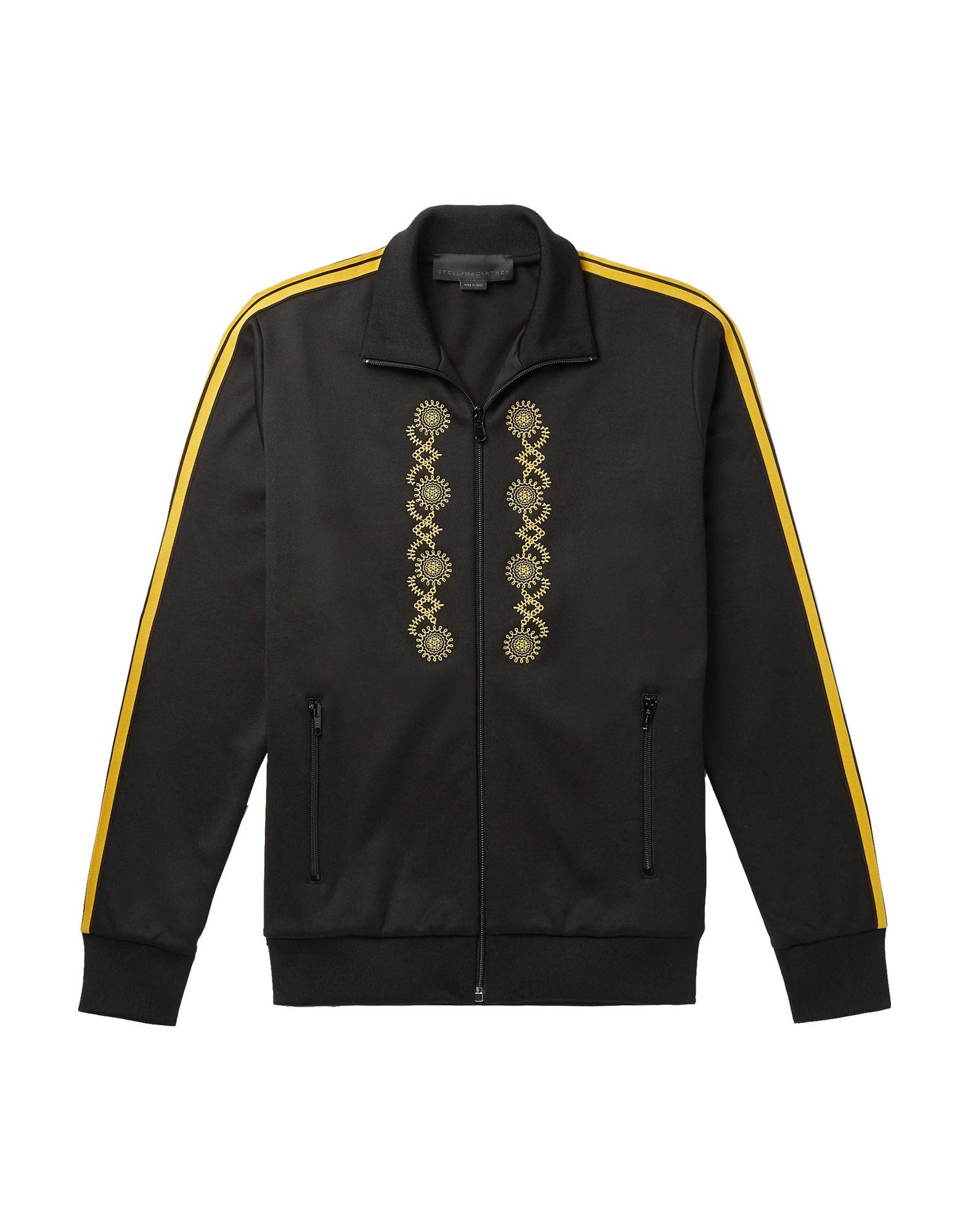 《セール開催中》STELLA McCARTNEY MEN メンズ スウェットシャツ ブラック M ポリエステル 55% / コットン 45% / ナイロン / ポリウレタン