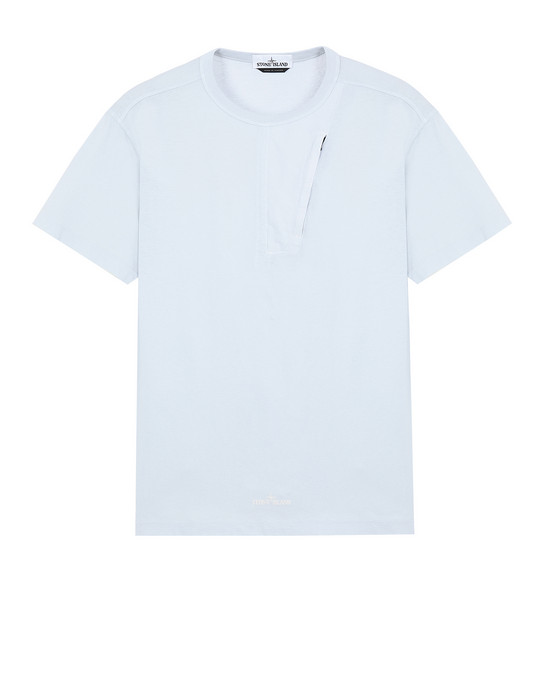STONE ISLAND 20358 Short sleeve t-shirt Man Sky Blue