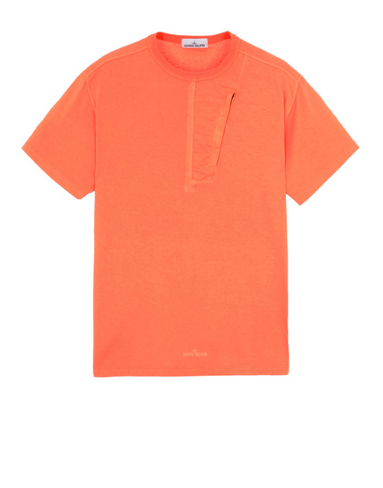 STONE ISLAND 20358 Short sleeve t-shirt Man Lobster Red