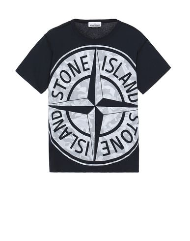 STONE ISLAND 23391 BIG LOOM Short sleeve t-shirt Man Blue EUR 114