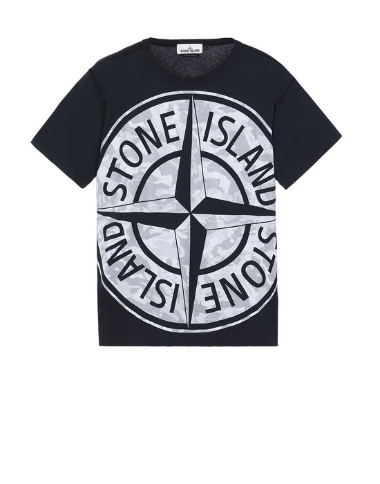 STONE ISLAND 23391 BIG LOOM Short sleeve t-shirt Man Blue