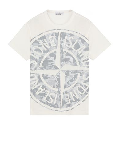 STONE ISLAND 23391 BIG LOOM Short sleeve t-shirt Man Ivory USD 120