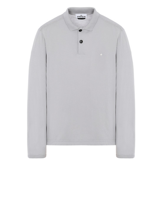 STONE ISLAND 22413 Polo shirt Man Dust Gray
