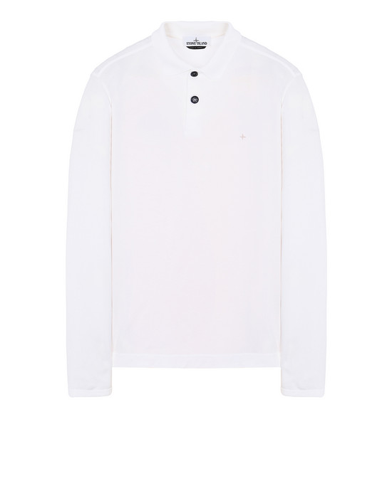 STONE ISLAND 22413 Polo shirt Man White