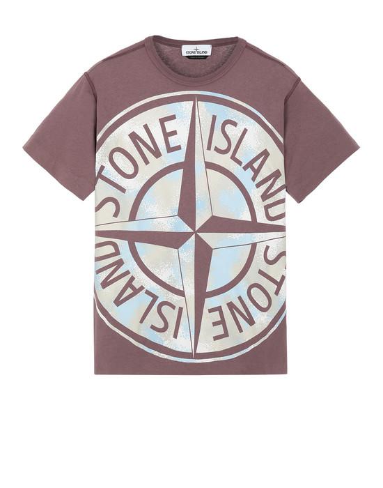 STONE ISLAND 23388 CAMO DÉVORÉ Short sleeve t-shirt Man MAHOGANY BROWN