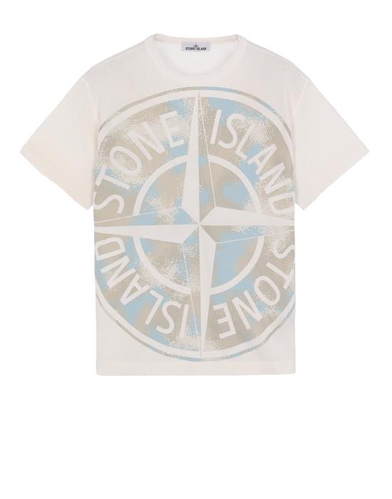 Short sleeve t-shirt Man 23388 CAMO DÉVORÉ Front STONE ISLAND