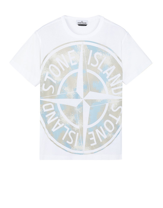 STONE ISLAND 23388 CAMO DÉVORÉ Short sleeve t-shirt Man White