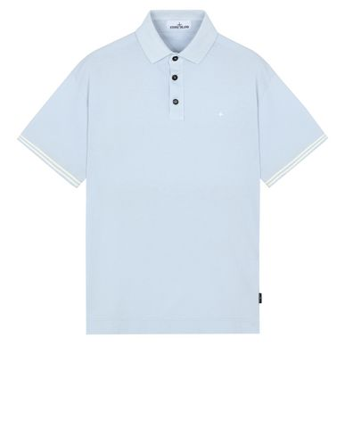 STONE ISLAND 20558 Polo shirt Man Sky Blue USD 143
