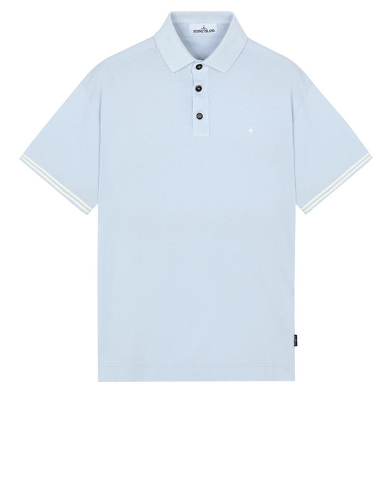 STONE ISLAND 20558 Polo shirt Man Baby Blue