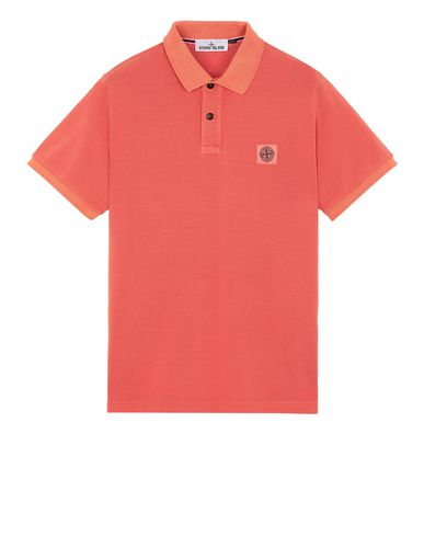 STONE ISLAND 22S67 Polo shirt Man Lobster Red USD 130