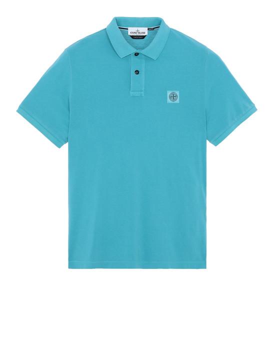 STONE ISLAND 22S67 ポロシャツ メンズ ターコイズブルー
