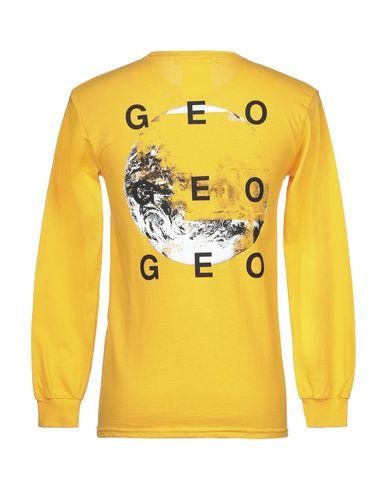 Фото 2 - Женскую футболку GEO желтого цвета