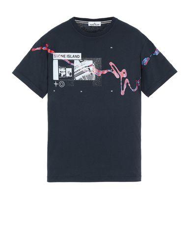 "STONE ISLAND 2NS80""ACQUADRONE ONE"" T-shirt manches courtes Homme Bleu EUR 122"