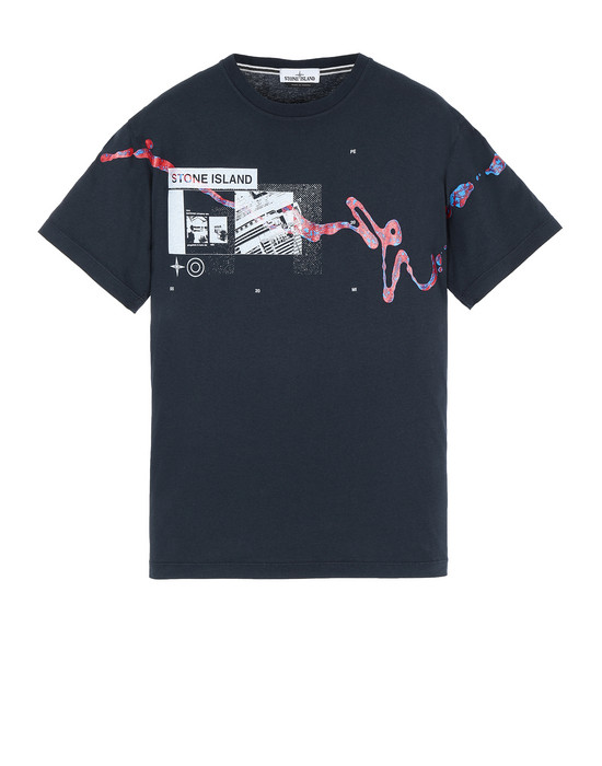 "STONE ISLAND 2NS80""ACQUADRONE ONE"" Short sleeve t-shirt Man Blue"