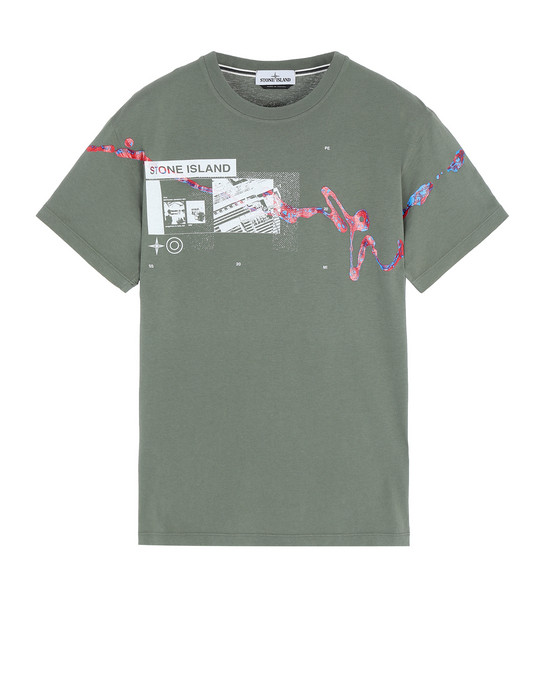 """Short sleeve t-shirt Man 2NS80""""ACQUADRONE ONE"""" Front STONE ISLAND"""