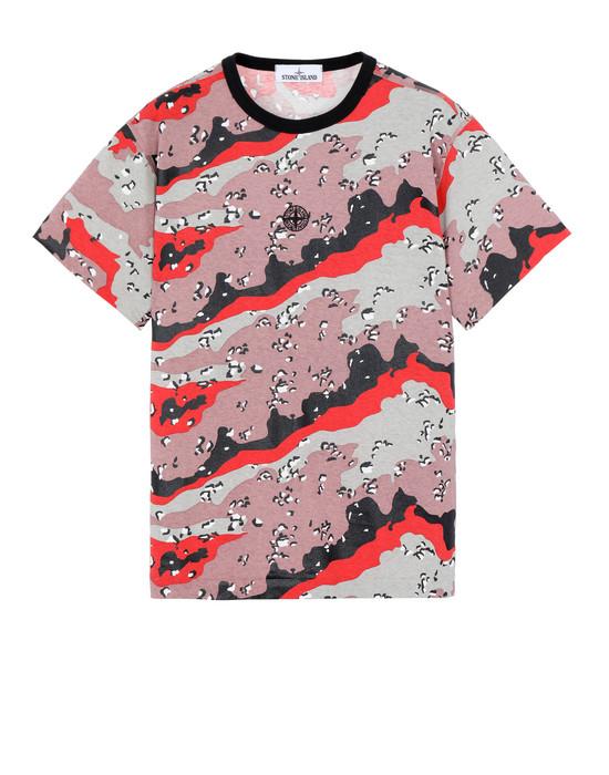 Short sleeve t-shirt Man 233E9 DESERT CAMO Front STONE ISLAND