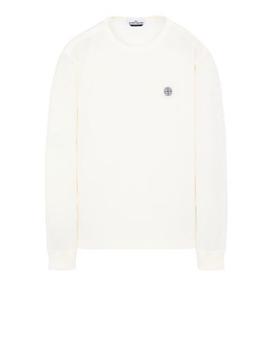 STONE ISLAND 22057 'FISSATO' DYE TREATMENT Long sleeve t-shirt Man Ivory EUR 97
