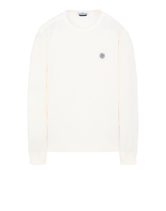 STONE ISLAND 22057 'FISSATO' DYE TREATMENT Long sleeve t-shirt Man Ivory