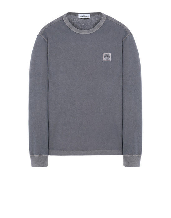 STONE ISLAND 22057 'FISSATO' DYE TREATMENT Long sleeve t-shirt Man Blue Grey