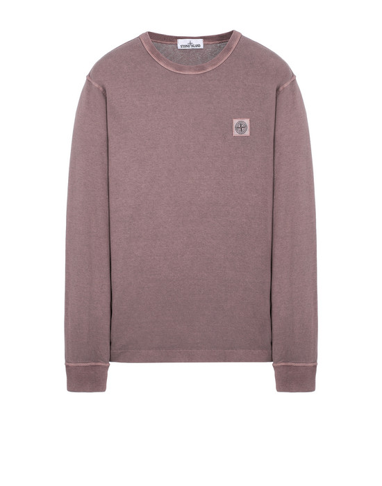 Long sleeve t-shirt Man 22057 'FISSATO' DYE TREATMENT Front STONE ISLAND