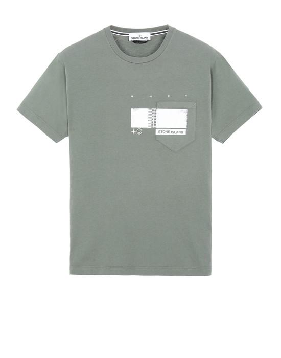 "Short sleeve t-shirt Man 24685""DRONE THREE"" Front STONE ISLAND"