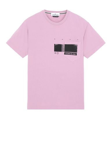 "STONE ISLAND 24685""DRONE THREE"" Short sleeve t-shirt Man Pink Quartz USD 82"