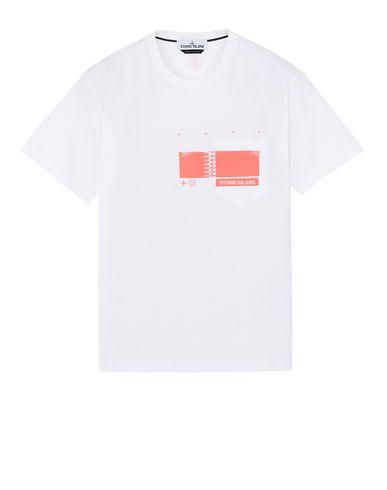 "STONE ISLAND 24685""DRONE THREE"" Short sleeve t-shirt Man White EUR 62"