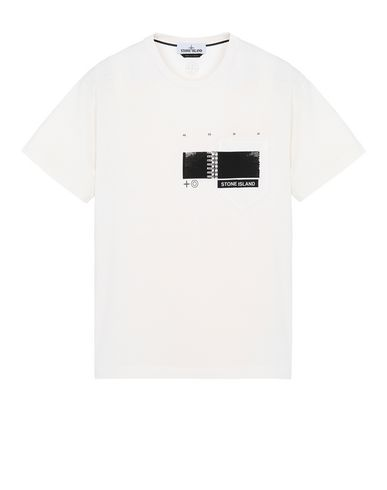 "STONE ISLAND 24685""DRONE THREE"" Short sleeve t-shirt Man DUST MELANGE USD 82"