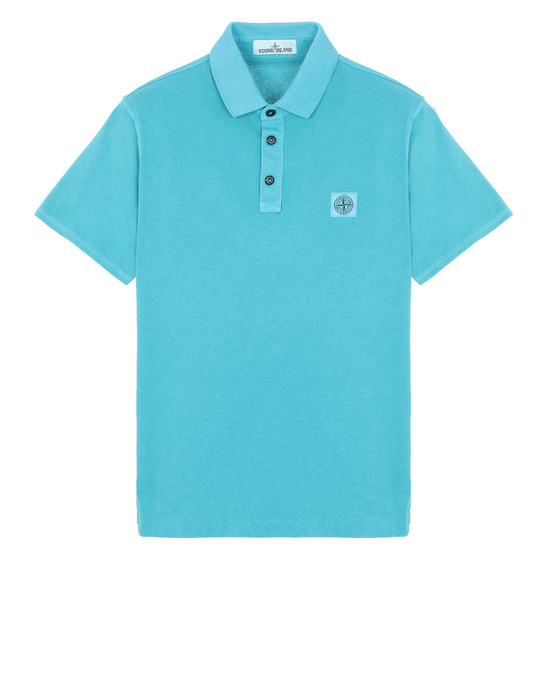 "Polo shirt Man 22257""FISSATO""DYE TREATMENT Front STONE ISLAND"