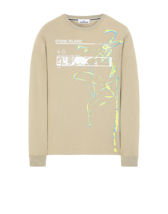 "Long sleeve t-shirt 2ML82""ACQUADRONE THREE"" STONE ISLAND - 0"