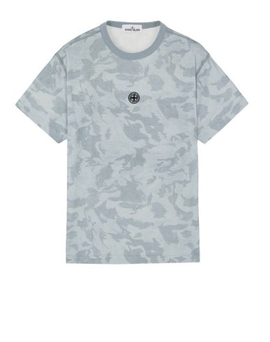 STONE ISLAND 233E7 BIG LOOM CAMO  Short sleeve t-shirt Man Baby Blue EUR 170