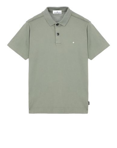 STONE ISLAND 23113 Polo shirt Man Olive Green EUR 98