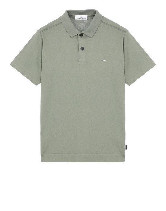 STONE ISLAND 23113 Polo shirt Man Olive Green
