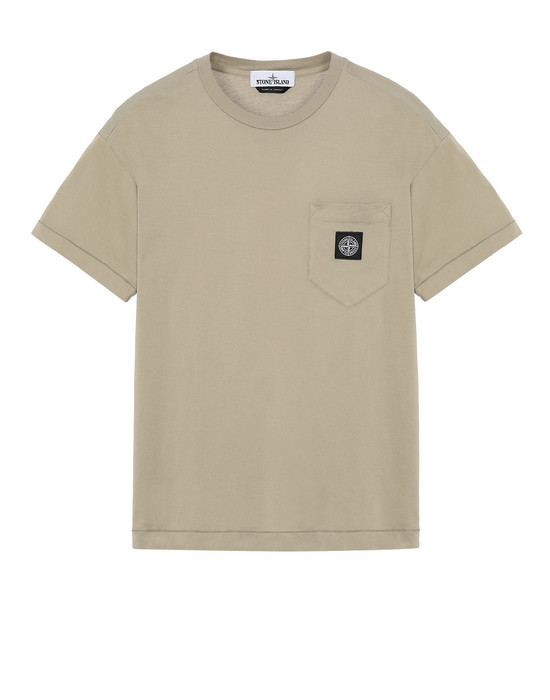STONE ISLAND 20113 Short sleeve t-shirt Man Dark Beige