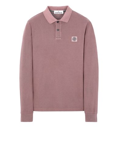 STONE ISLAND 2SS67 PIGMENT DYE TREATMENT Polo shirt Man MAHOGANY BROWN EUR 145