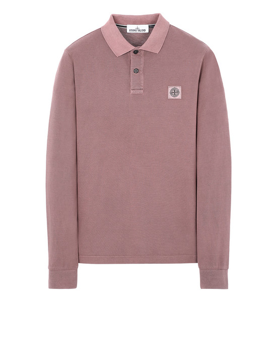 STONE ISLAND 2SS67 PIGMENT DYE TREATMENT Polo shirt Man MAHOGANY BROWN