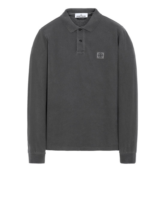 STONE ISLAND 2SS67 PIGMENT DYE TREATMENT Polo shirt Man Steel Gray