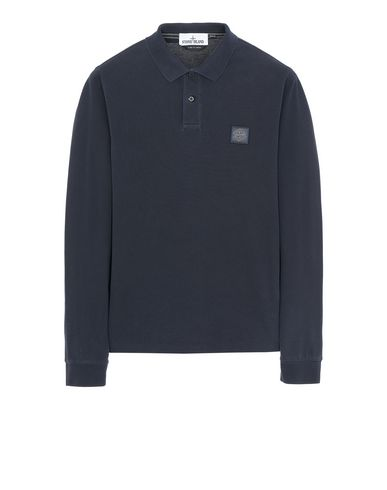 STONE ISLAND 2SS67 PIGMENT DYE TREATMENT Polo shirt Man Blue USD 205