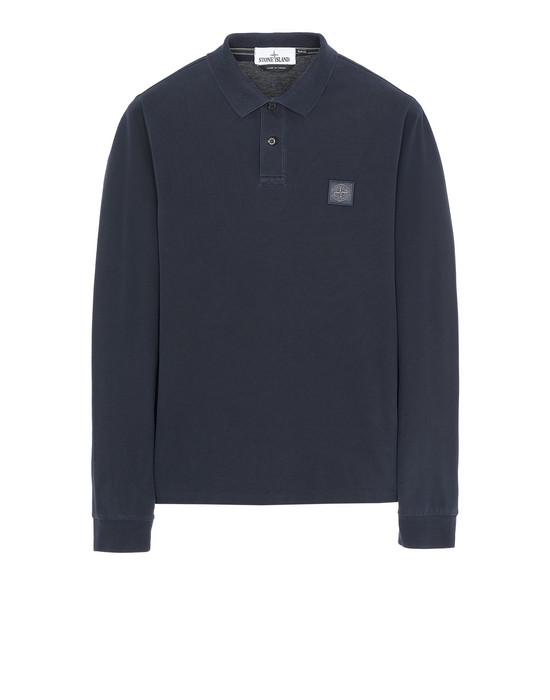 STONE ISLAND 2SS67 PIGMENT DYE TREATMENT Polo shirt Man Blue