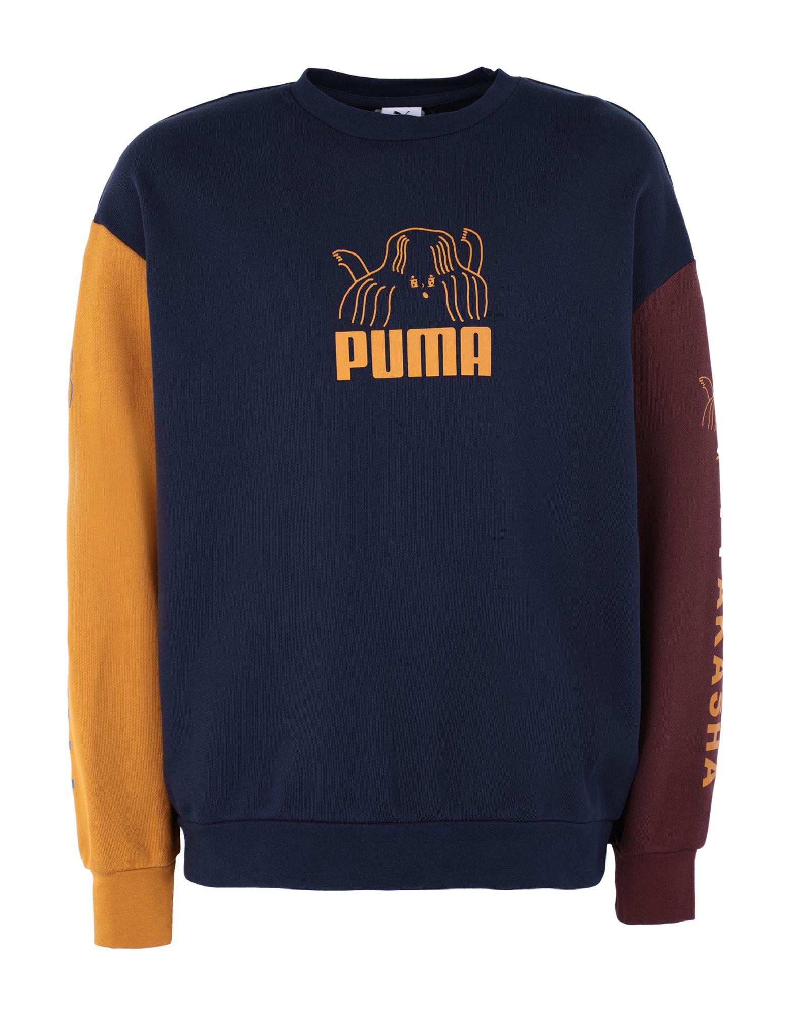 《セール開催中》PUMA x TYAKASHA メンズ スウェットシャツ ブルー S コットン 100% / ポリウレタン x TYAKASHA Crew Peacoat