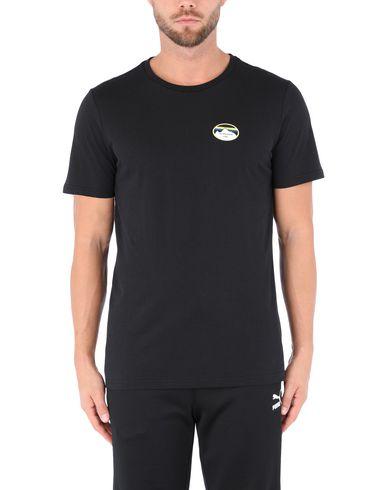 Фото 2 - Женскую футболку PUMA x LES BENJAMINS черного цвета