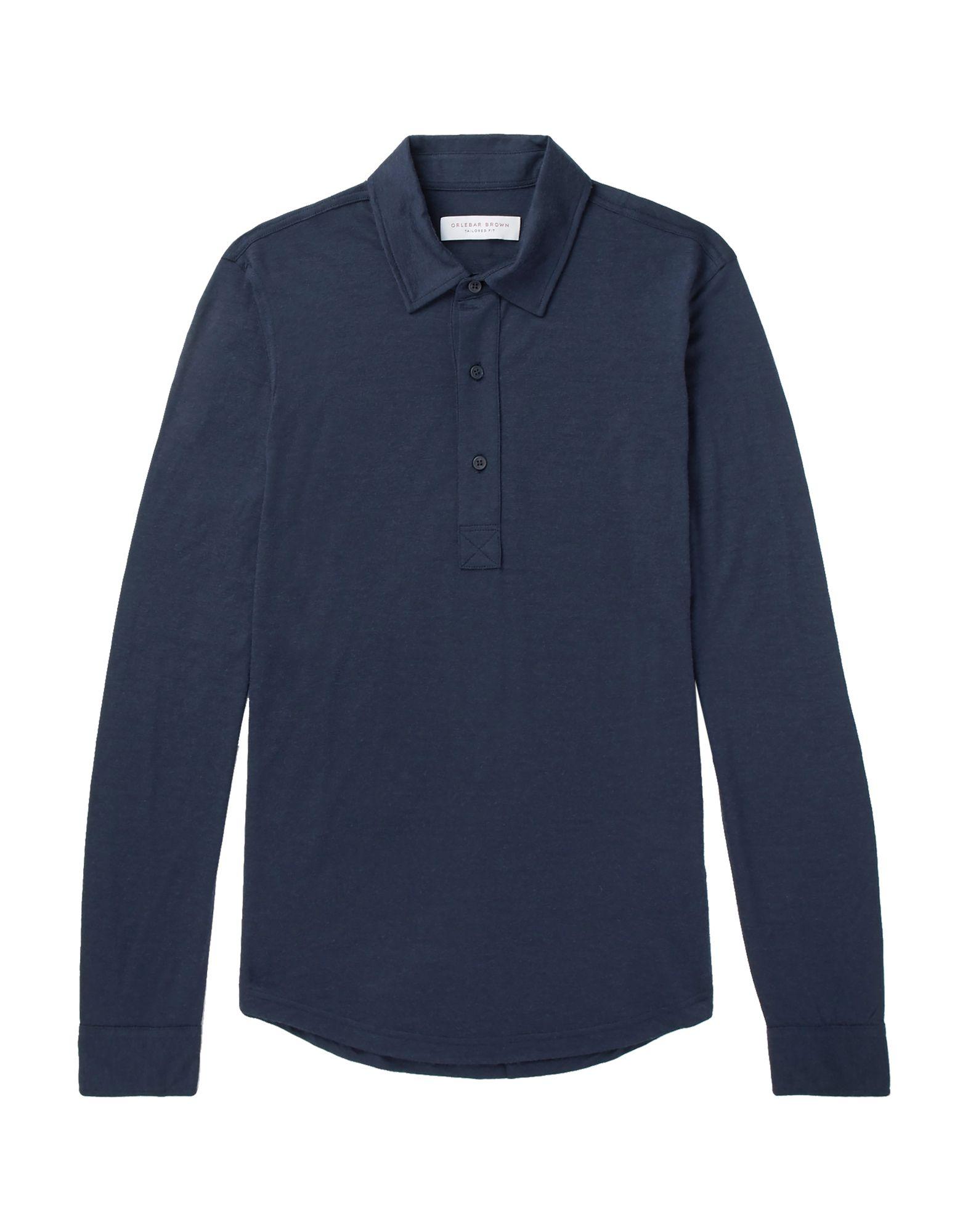《セール開催中》ORLEBAR BROWN メンズ ポロシャツ ダークブルー M ウール 100%