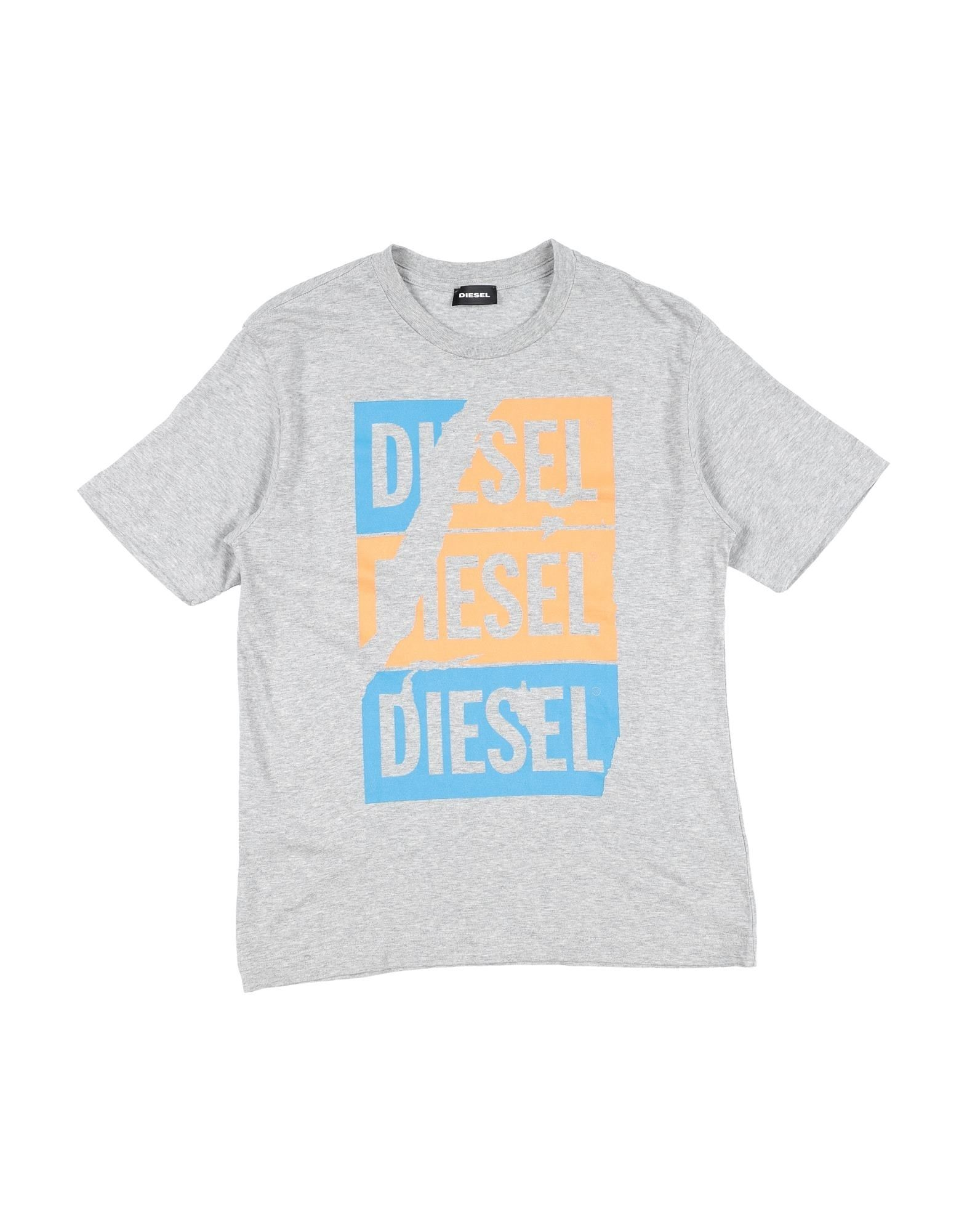 Diesel Kids' T-shirts In Gray