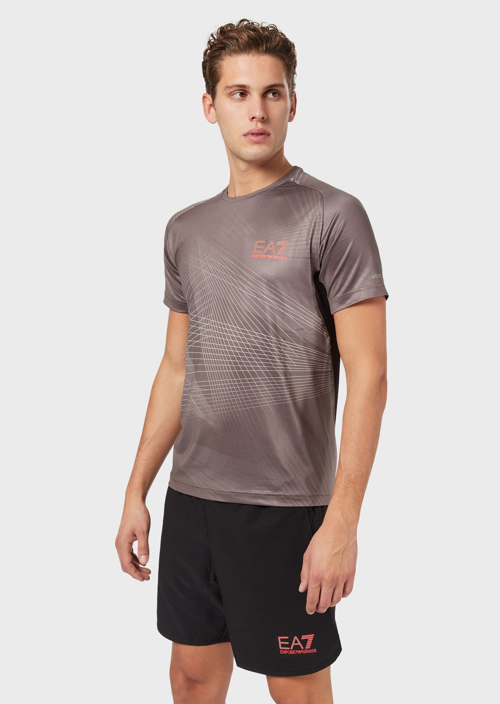 Emporio Armani T-Shirts - Item 12397273 In Taupe